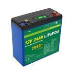 සූර්ය ගැඹුරු චක්රය 24v 48v 24ah Lifepo4 බැටරි ඇසුරුම UPS 12v 24ah බැටරි
